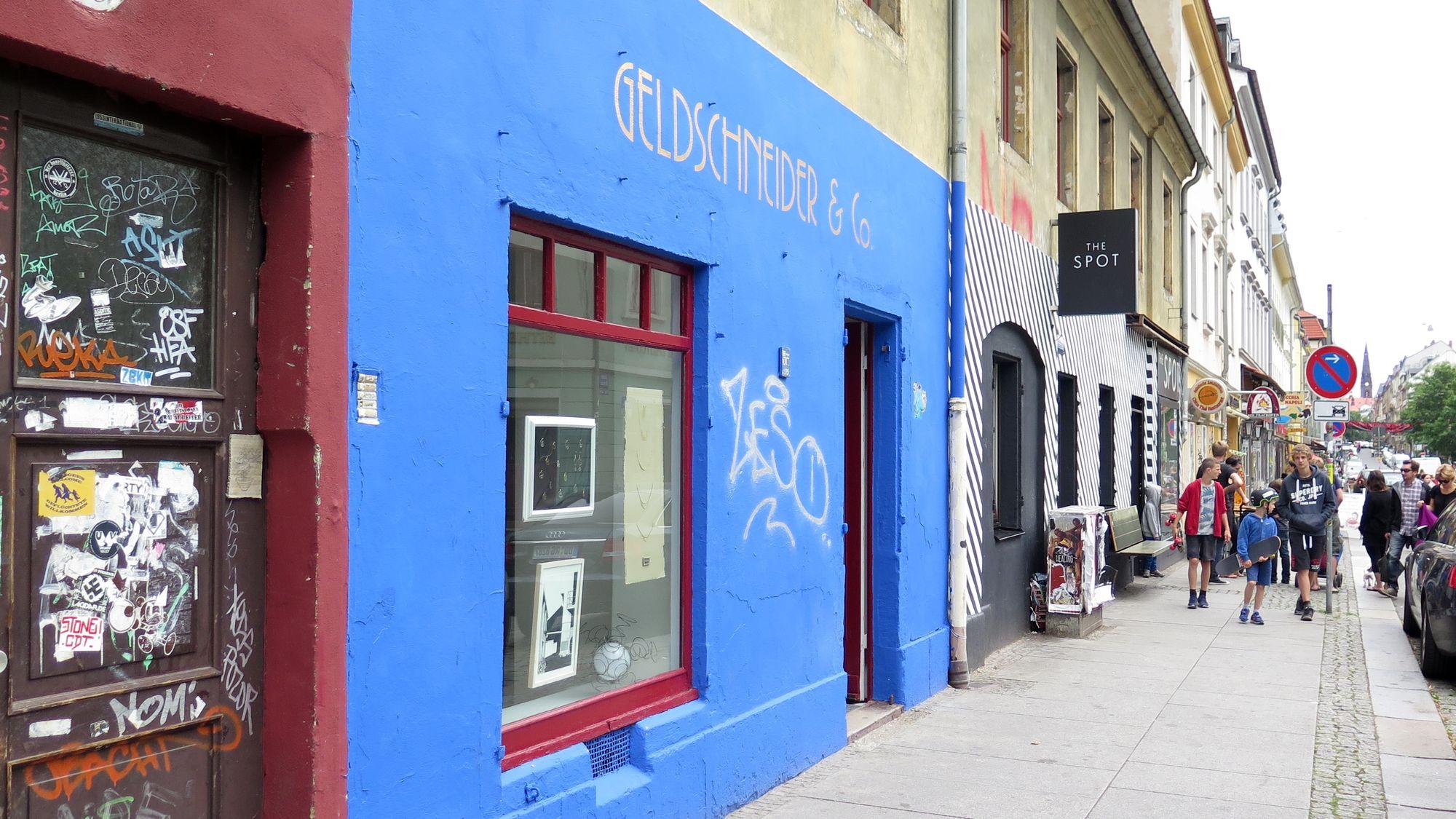 Geldschneider & Co. auf der Alaunstraße
