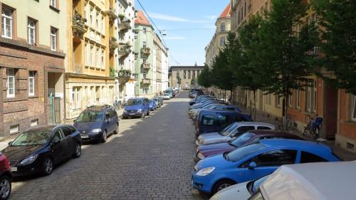 Von der Hansastraße aus gesehen.