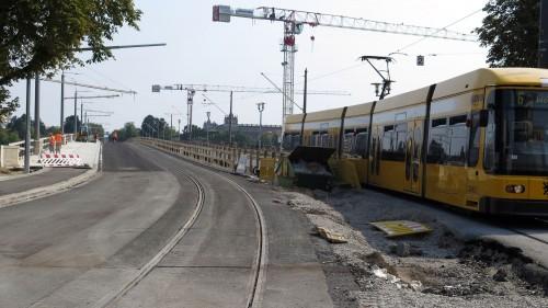 Das neue Gleis ist fertig, wird ab Montag ans Netz angeschlossen.
