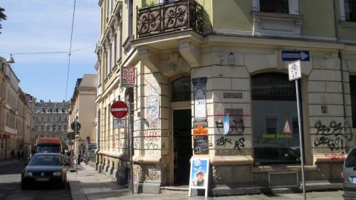 Spätshop an der Försterei-/Ecke Jordanstraße