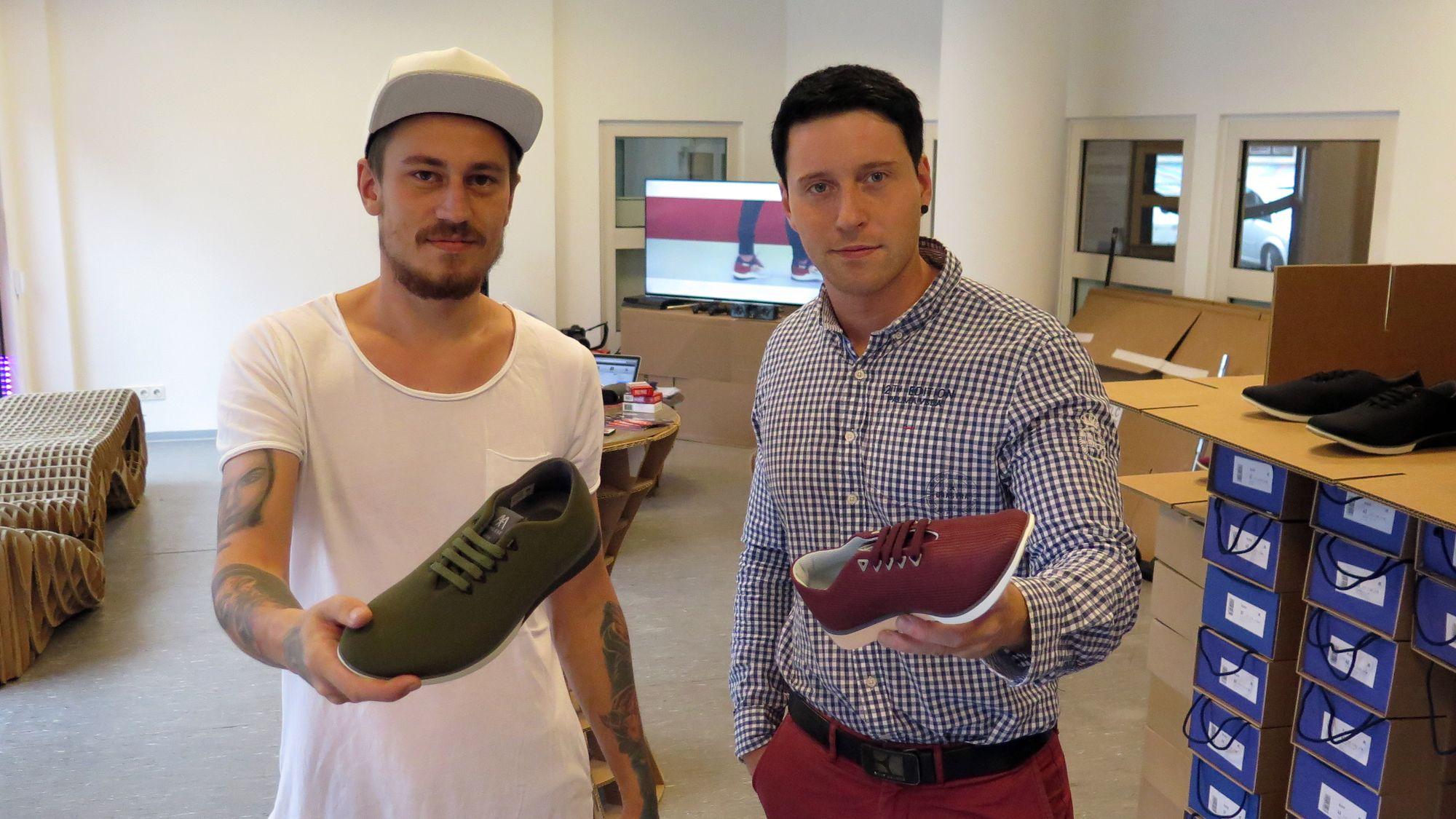Aufpoppende Schuhe