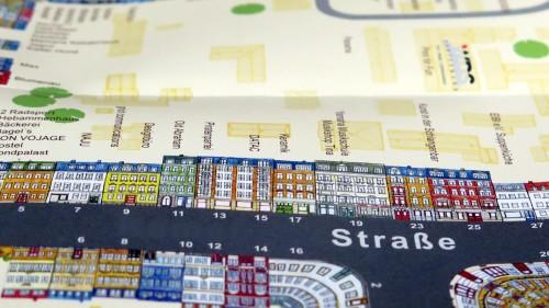 Welche Straße zeigt der Kartenausschnitt?