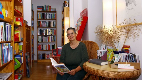 Cornelia Maul in ihrer Pusteblume