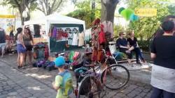 Kinderschminken auf dem Flohmarkt