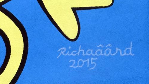 Früher war der Schriftzug im ganzen Bild versteckt: Richaâârd