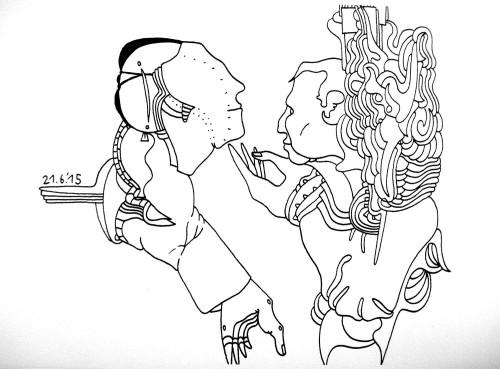 Zeichnung von Pierre Vlček