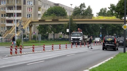 Gefährliche Straßenquerung an der Albertstraße