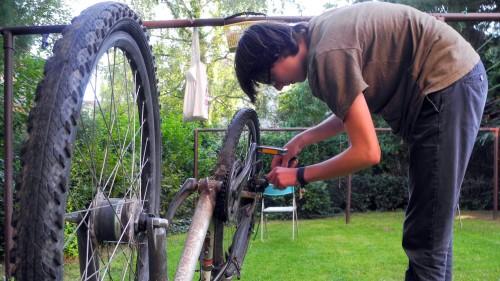 Das alte Rad wird nochmal aufgemöbelt. Foto: privat