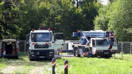 Vergangene Woche haben die Drewag die Anschlüsse für Strom und Wasser gelegt.