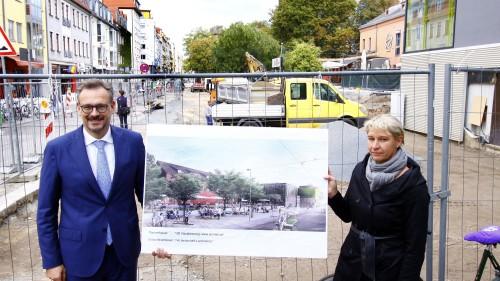 Planungsamtsleiter Stefan Szuggat und Stesad-Projekt Undine Neubert