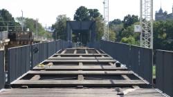 Die gesperrte Behelfsbrücke im September.