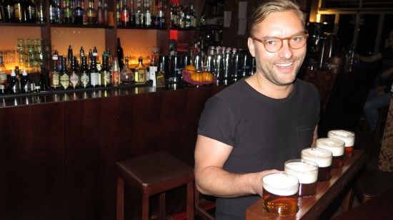 Marcus mit Pro-Bier-Brett