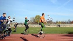Bester Sachse im Einradfahren: Peter Theeg