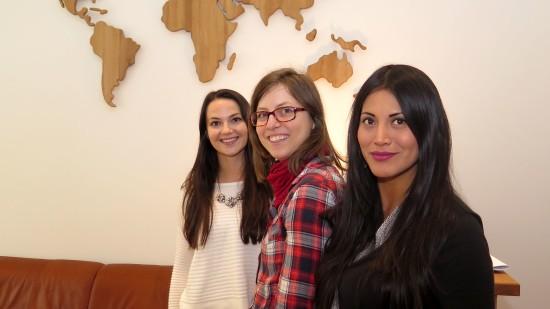 Die drei von der Sprachschule.