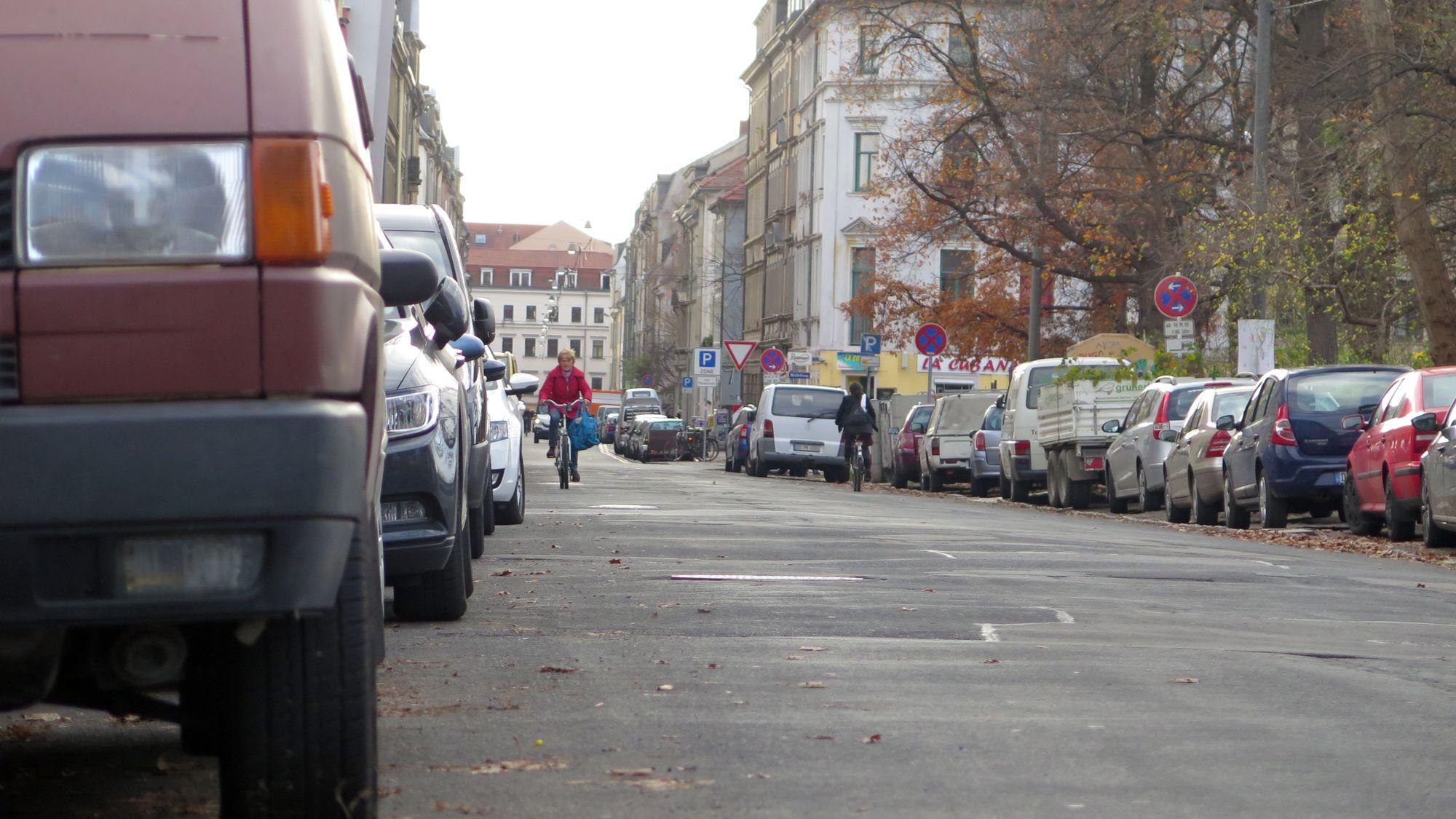 Wird überholt: die Kamenzer Straße am Alaunplatz.