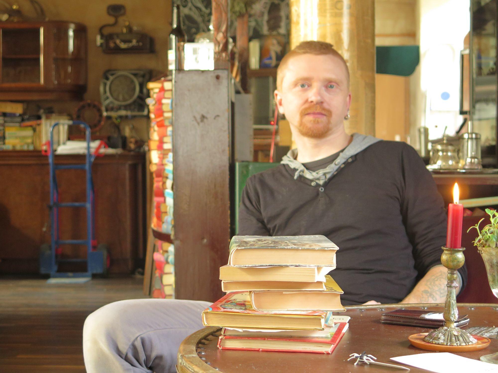 Steht die Buchbar vor dem Aus? Inhaber Schmuddl hofft auf Unterstützung.