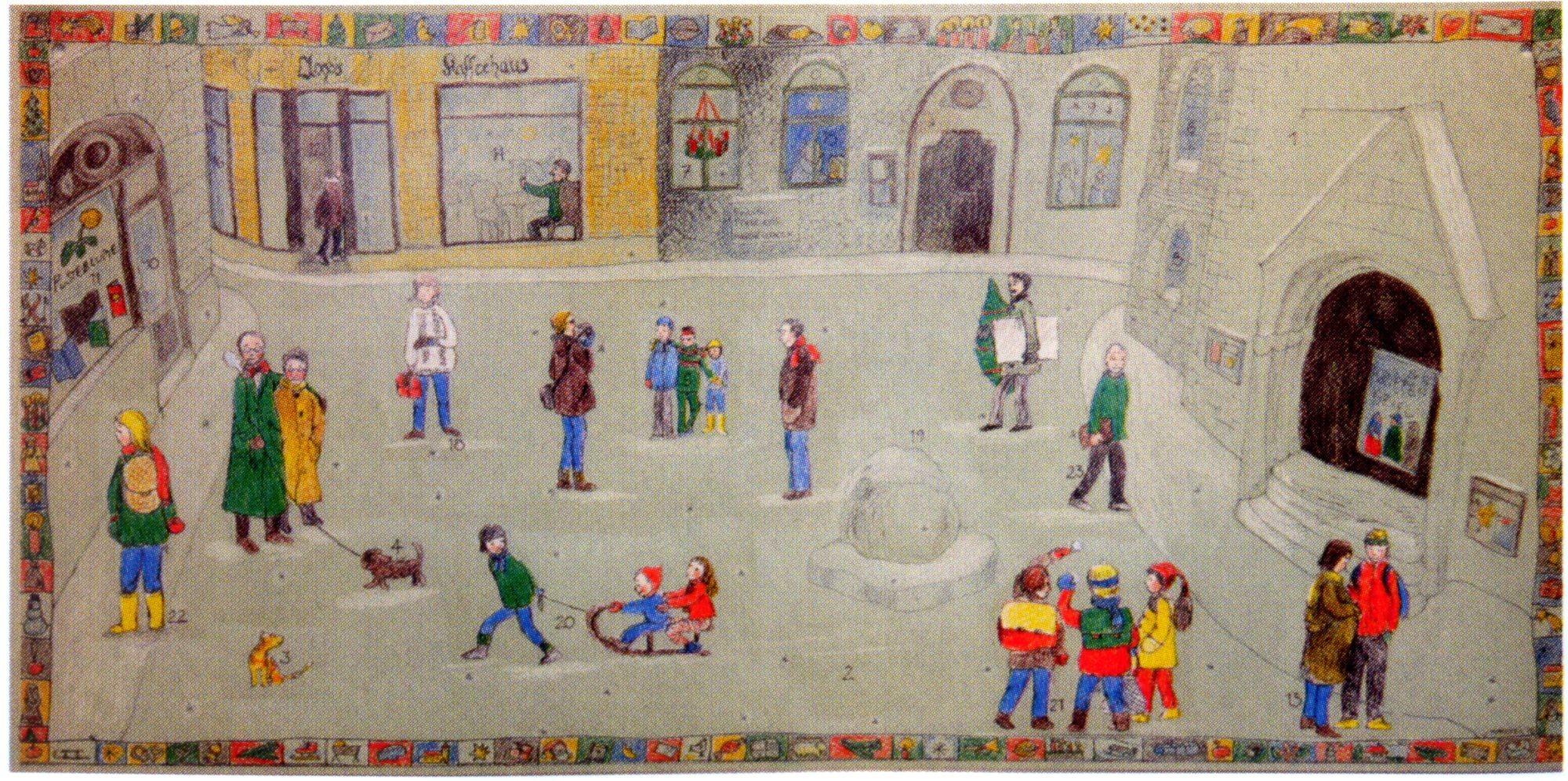 So sah der erster Adventskalender von 1998 aus: Kinder der Neustadt