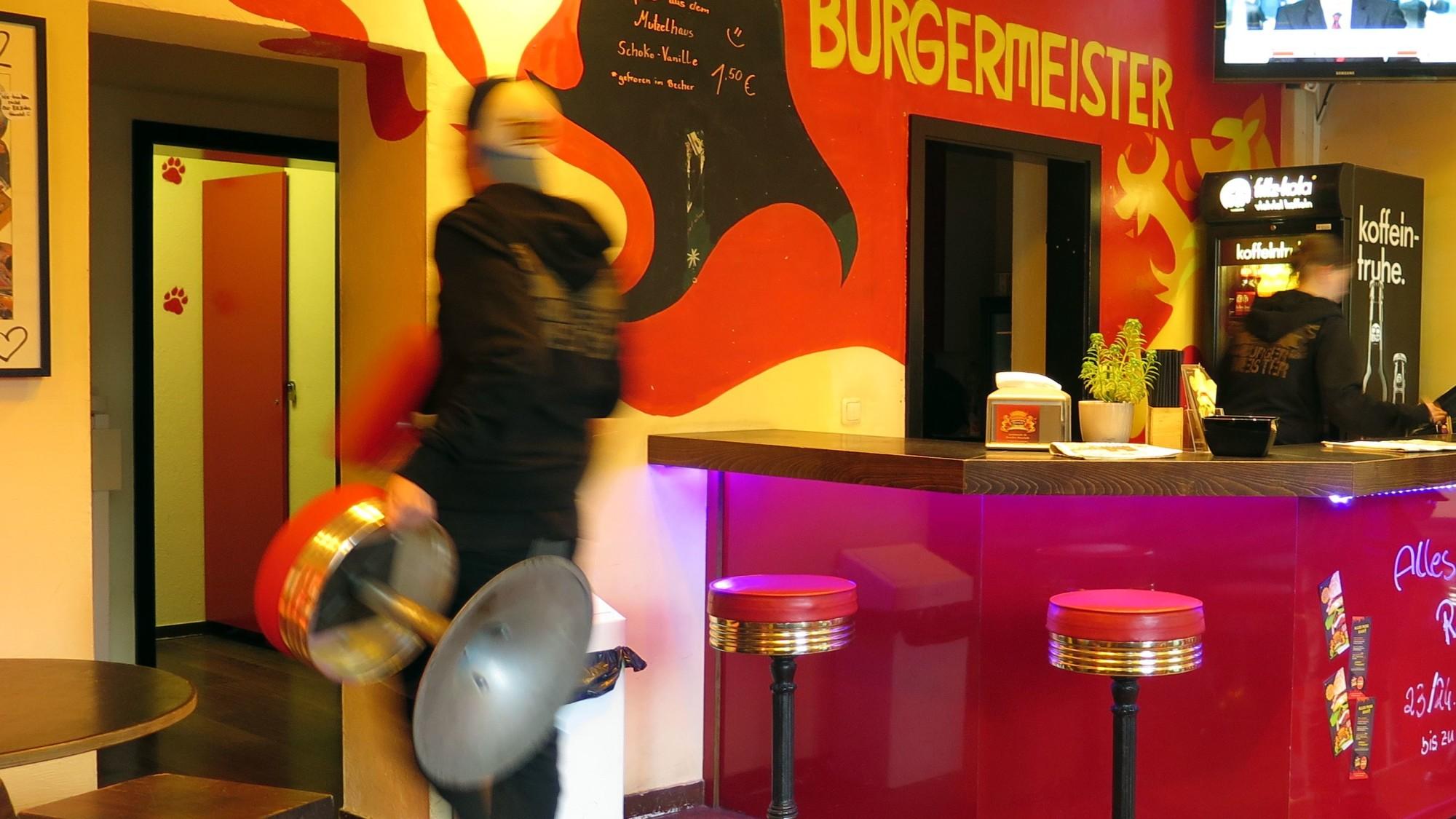 Heute: Letzter Tag im Burgermeister - dann wird ausgeräumt.