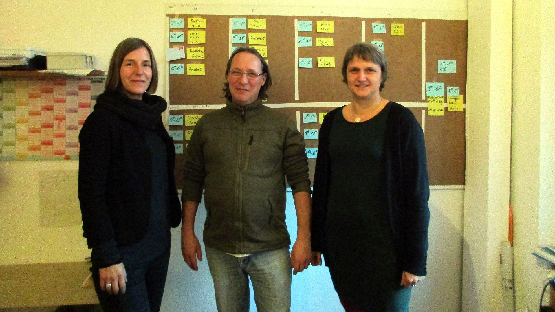 Beate Rohde, Dieter Wolfer und Peggy Schramm vom KLuB