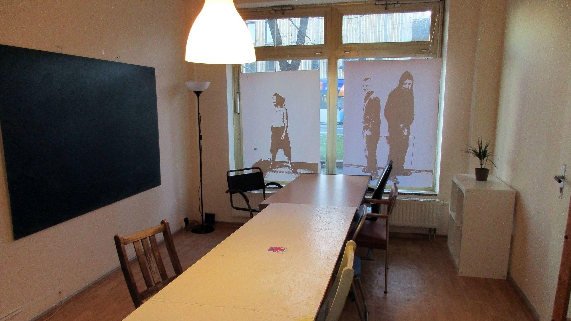Unterrichtsraum in der Straßenschule