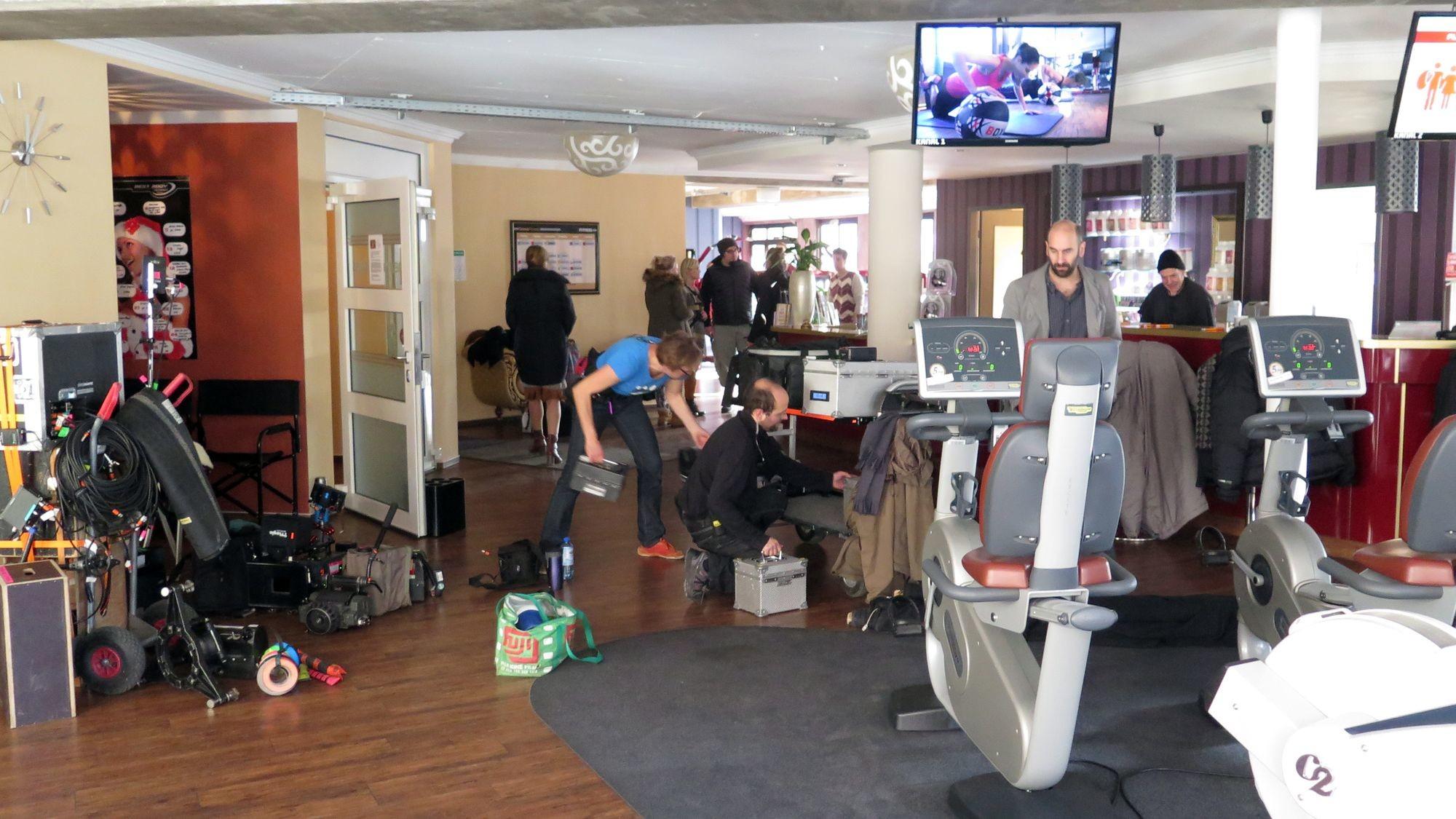 Dreharbeiten zum Tatort im New York Fitness