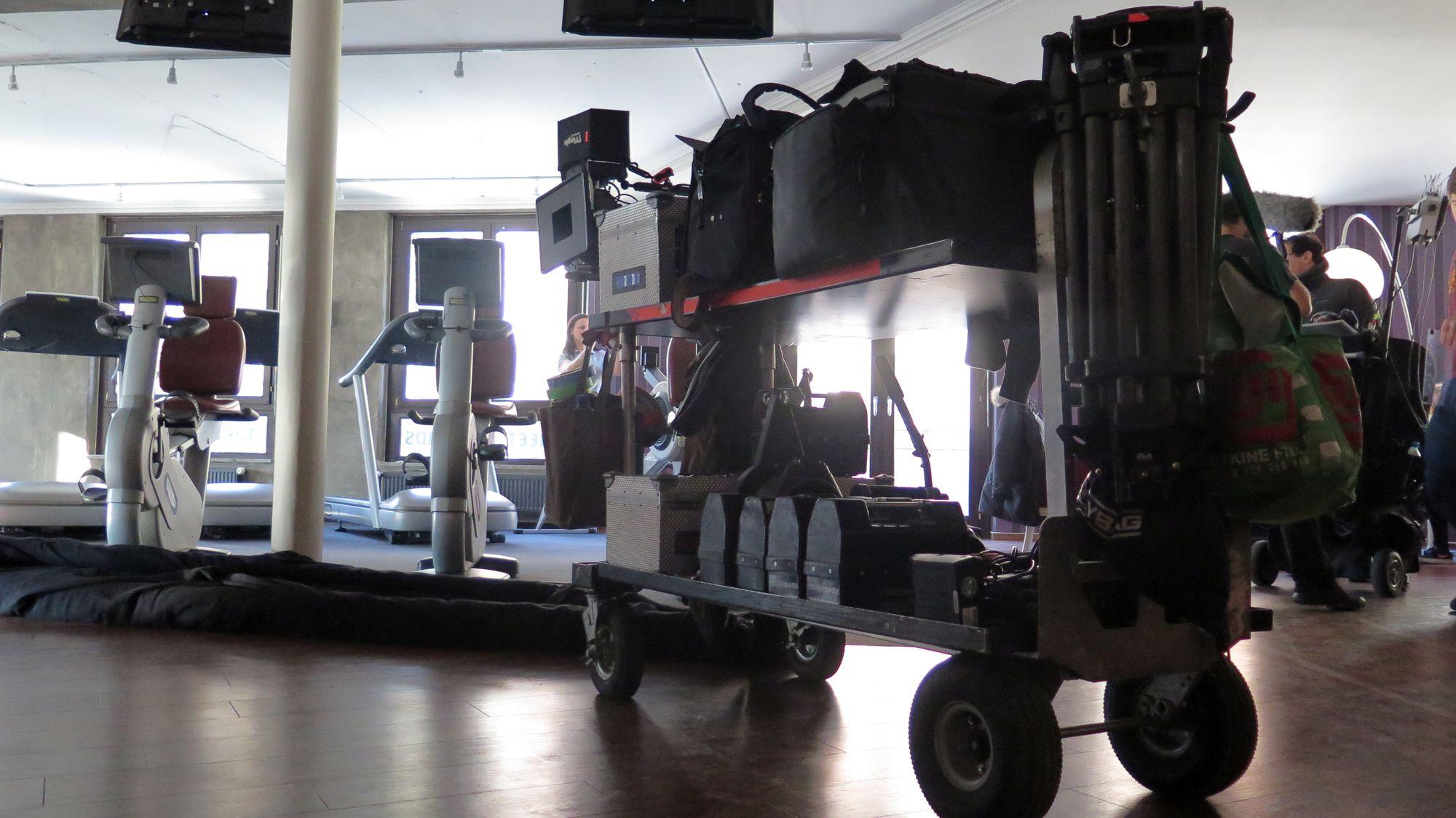 Kamera im Fitness-Studio