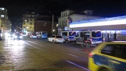 Viel Polizei auf dem Bischofsweg.
