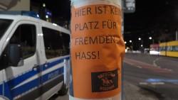 Plakat am Albertplatz