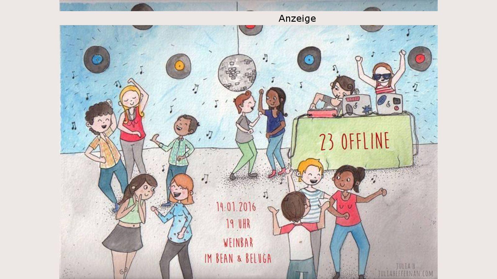 23 offline - am 14. Januar im Bean & Beluga