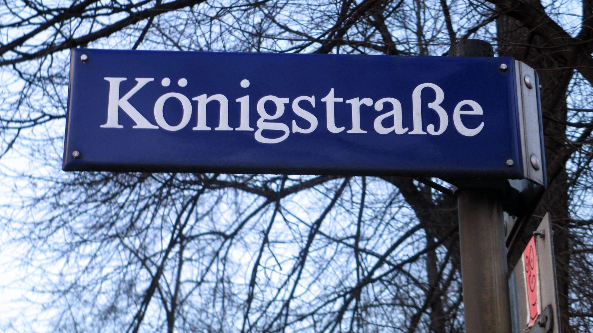 Die Königstraße als barockes Prachtviertel von August dem Starken befohlen.