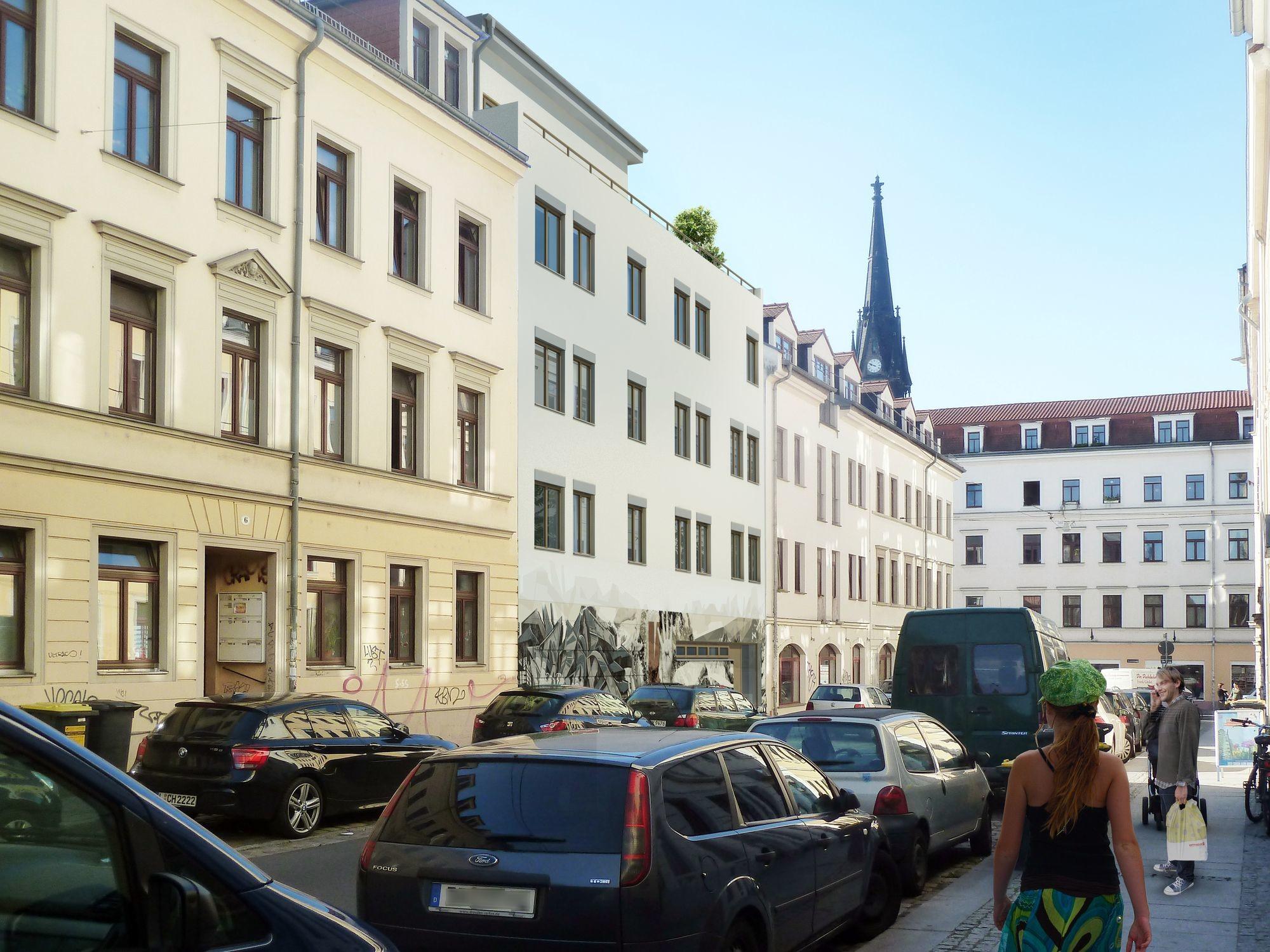 So soll sich das neue Haus in die Kamenzer Straße einfügen. Visualisierung basis|d