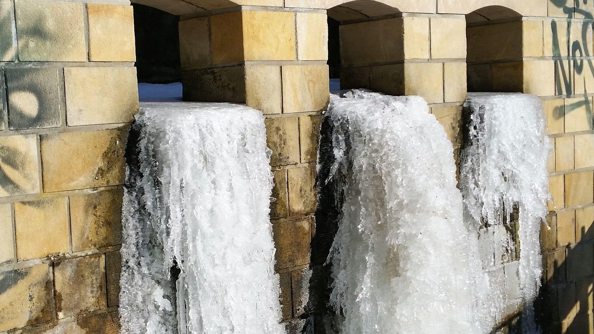 Wasserfall am Wasserwerk Saloppe