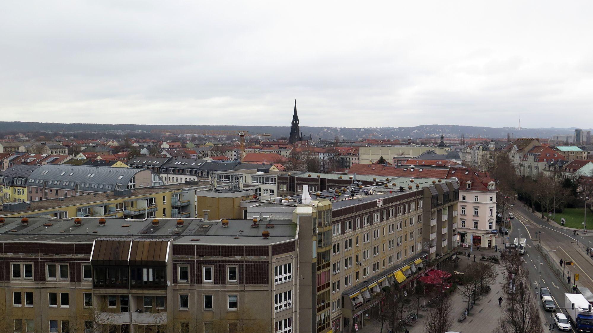 Der Ausblick vom Balkon.