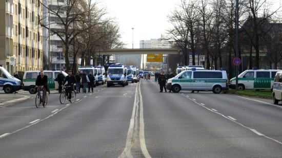 Polizei sperrte Carolastraße