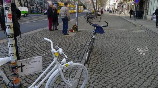 Fahrraddenkmal an der Bautzner Straße. Foto: ADFC Sachsen e.V.