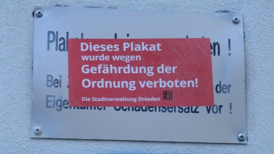 Wilde städtische Vandalismusaktionen werden auf der Lutherstraße nicht gutgeheißen