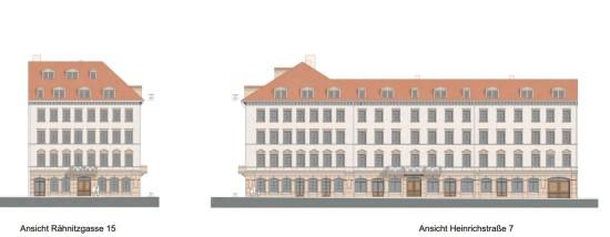 Geplante Heinrichresidenz. Visualisierung: Seidel+Architekten