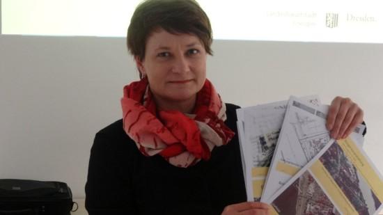 Anja Heckmann, Abteilungsleiterin Innenstadt beim Stadtplanungsamt, präsentierte den Bebauungsplan für das Elbviertel. Foto: W. Schenk