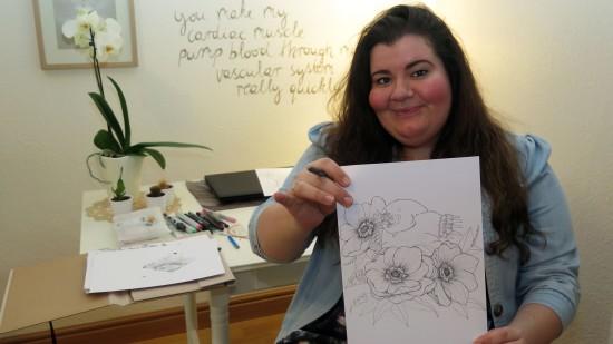 Cindy zeichnet für ihr Leben gern.
