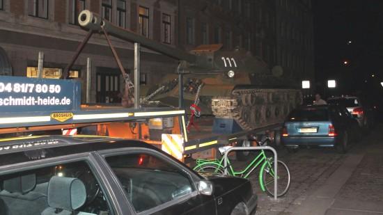 Auf der Kamenzer Straße ein kleines Wendemanöver.