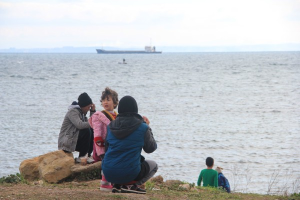 Flüchtlinge auf der griechischen Insel Chios - Foto: Paul Jeute