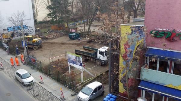 Baustart an der Alaunstraße