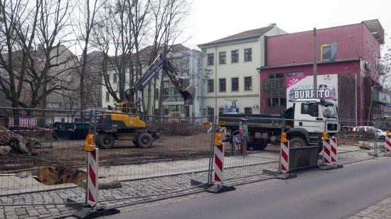 Baustart: Die Bauarbeiten haben begonnen.