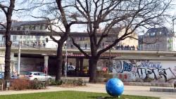 Der S-Bahnhof am Bischofsplatz musste kurzzeitig gesperrt werden.