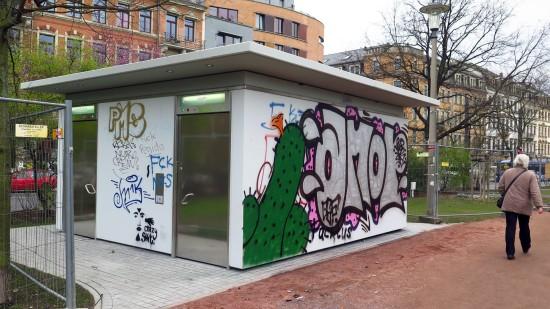 Toilette Alaunplatz: Ab heute geöffnet: Toilettenhaus am Alaunplatz