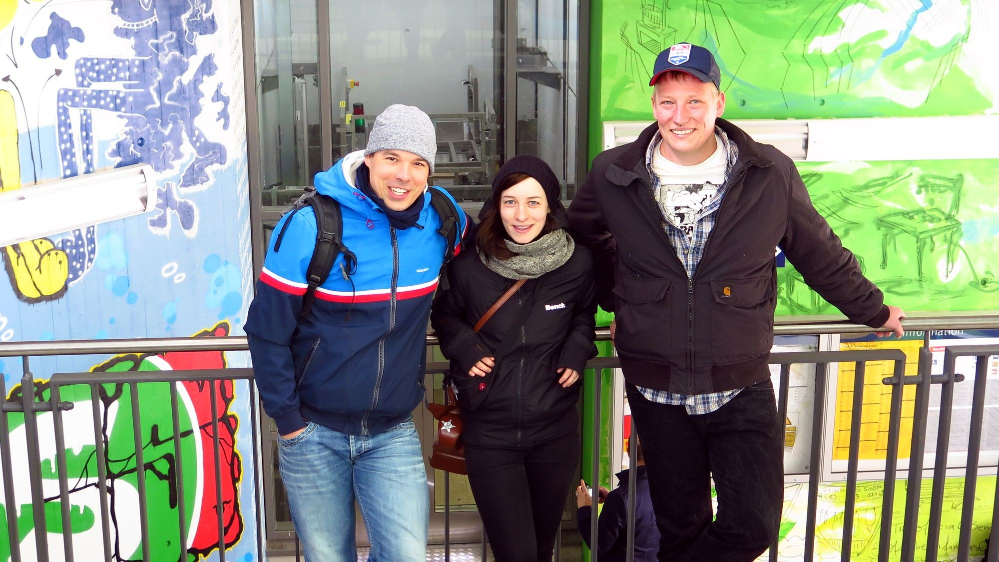 Street-Artisten: Jens, Anett und Florian