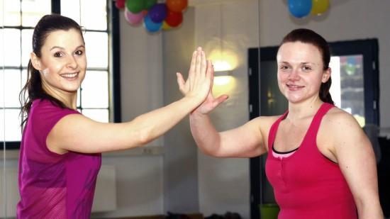 Perfektes Duo Trainerin Claudia und Nicole