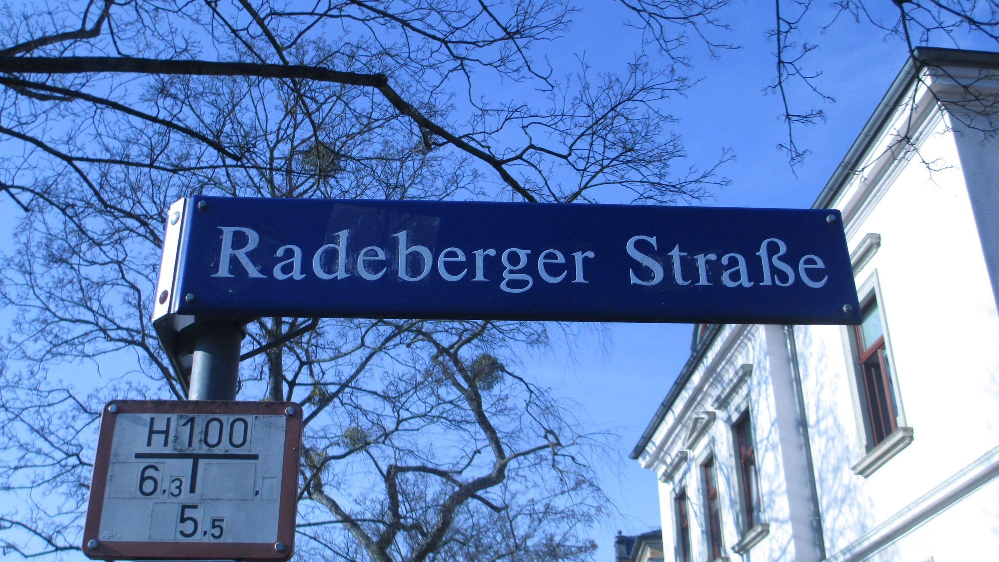 """Die Radeberger Straße hieß bis 1861 """"Alte Radeberger Straße"""""""