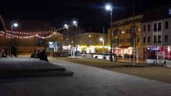 Scheunevorplatz am Abend