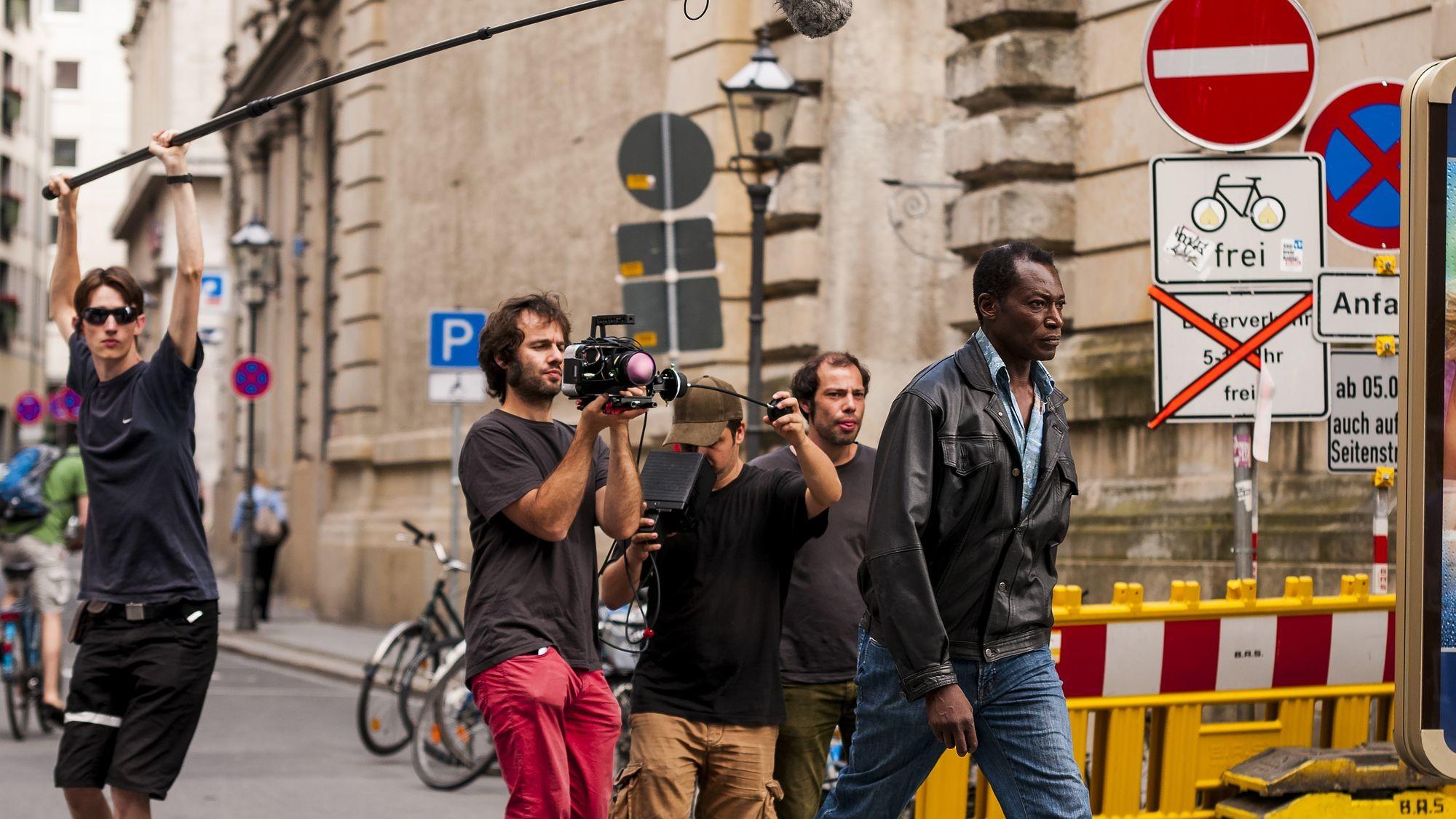 Bei den Dreharbeiten - Foto: PR/Patrick Meischner